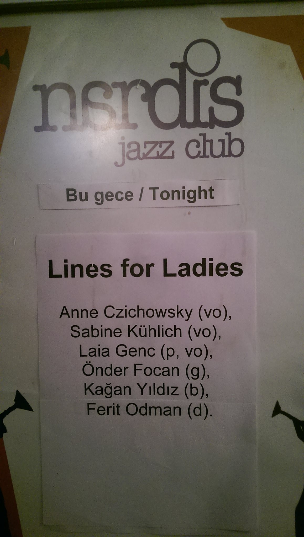 Lines For Ladies @ Nardis Jazz Club